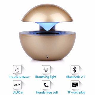 Ball Lautsprecher Box Weiss Bluetooth kabellos Speaker Radio USB TF Wireless
