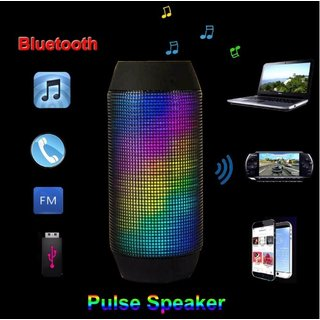 Disco LED Lautsprecher Box Schwarz Bluetooth kabellos Speaker Radio USB SD Wireless